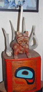 Fearsome dusty pottery cat