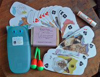 playing cards with cats; soap; lip balm